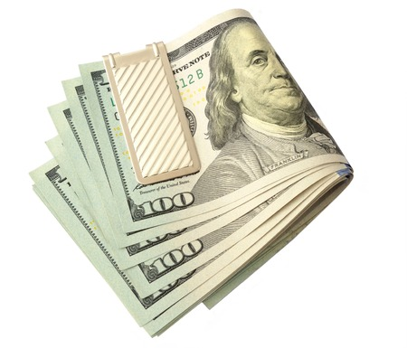 pack of dollars: pack dollars isolated on a white rich