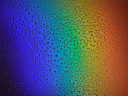 water drops rainbow background