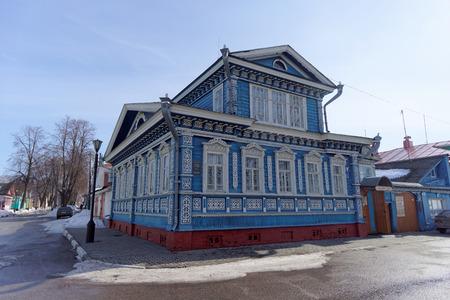 samovar: Samovar Museum on Street Quay Revolution. Gorodets. Nizhny Novgorod Region. Russia