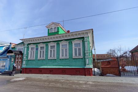 damper: Gallery Dobra on Street Quay Revolution.. Gorodets. Nizhny Novgorod Region. Russia