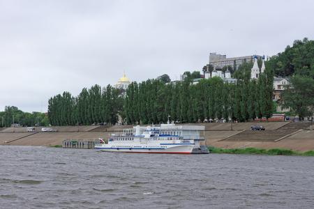 oka: Nizhny Novgorod, Russia - June 11.2016. Riverboat Volgar-NN on the river Oka.