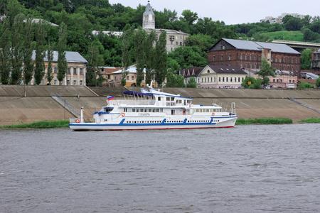 oka: Nizhny Novgorod, Russia - June 11.2016. Riverboat Siberia on the river Oka. Editorial