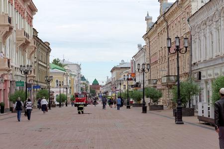 arrived: Nizhny Novgorod, Russia. - June 15.2016. Many cars of the Ministry of Emergency Situations arrived at the call on the street Bolshaya Pokrovskaya