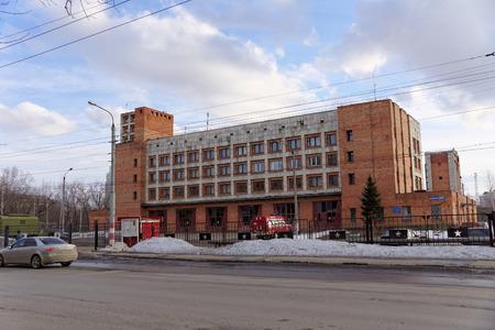 depot: Nizhny Novgorod, Russia. - March 22.2016. Fire depot on the street Murashkinskaya