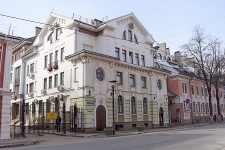 malaya: Nizhny Novgorod, Russia. - March 25.2016. Mostootryad-1 on street Malaya Pokrovskaya