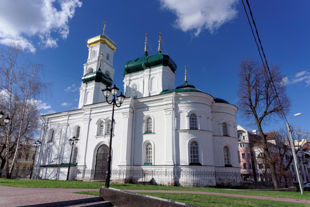 the ascension: Nizhny Novgorod, Russia. - April 22.2016. Church of the Ascension of the Lord the street Ilyinskaya 54