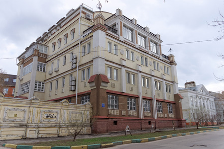 12: Nizhny Novgorod, Russia. - April 22.2016. New stone house the street 12 St. Sergius