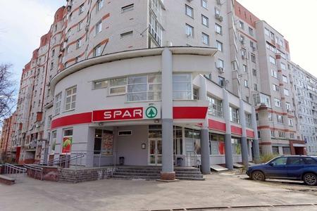 spar: Nizhny Novgorod, Russia. - April 26.2016. SPAR store at the intersection of Izhora and Genkina