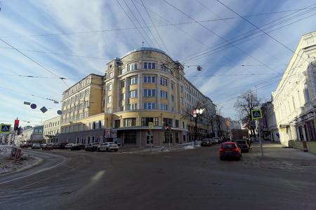 requires: Nizhny Novgorod, Russia - February 5.2016. Old Cinema Record in Nizhny Novgorod, Russia