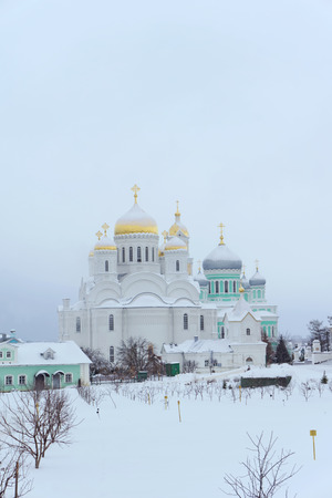 Diveyevo, Russia. - December 25.2016. The Transfiguration Cathedral in Diveevo Convent Editorial