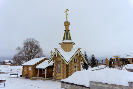 dome type: Diveyevo, Russia. - December 25.2016. Source in honor of the Kazan Icon of the Mother of God Editorial