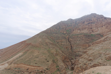 View the Mount of Temptation in Jericho