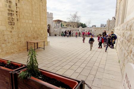 Nazareth, Israel. - February 17.2017. Greeck ortohodox church of the Annunciation.