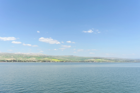 Israel, view of the Sea of Galilee. Dahl