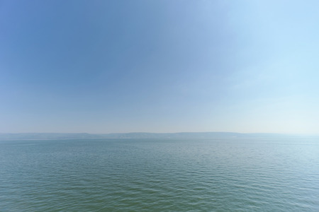 Israel, view of the Sea of Galilee.