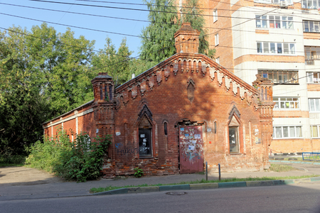 requires: Nizhny Novgorod, Russia. - September 13.2017. Old brick warehouse on Gogol Street 30. Editorial