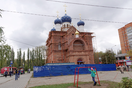 Nizhny Novgorod, Russia. - October 06.2017. Church in honor of the Icon of the Mother of God Unexpected joy on the prospectus of the 70th anniversary of October