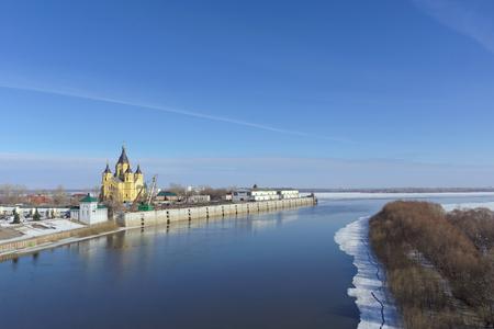 Nizhny Novgorod, Russia. - March 14.2017. The Cathedral of Alexander Nevsky. Editorial