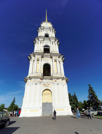 Rybinsk, Russia. - June 3.2016. The Belltower of the Savior-Transfiguration Cathedral in Rybinsk. Editorial