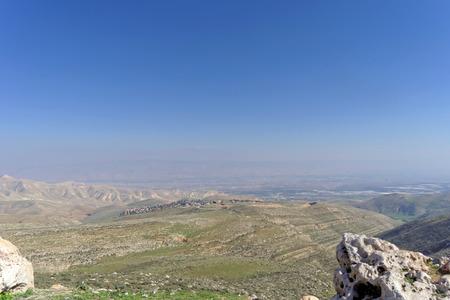 Landscapes in the Lower Galilee in Israel. Winter Israel landscape. Stock Photo - 95363678