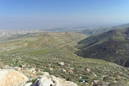 Landscapes in the Lower Galilee in Israel. Winter Israel landscape.