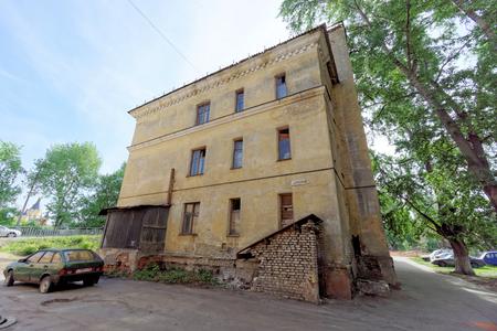 Nizhny Novgorod, Russia. - May 24.2018. Residential brick three-storey house on Kerch Street 5.