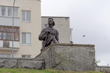 Nizhny Novgorod, Russia. - June 6.2018. The monument to the famous proletarian writer Maxim Gorky on the embankment of Fedorovsky.