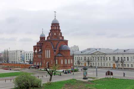 Vladimir, Russia. - May 06.2018. Vladimir Church of the Trinity. Locals call it the Red Church Éditoriale