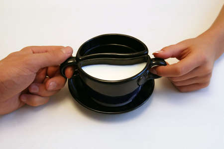 Yin Yang voor een ontbijt Stockfoto - 295437