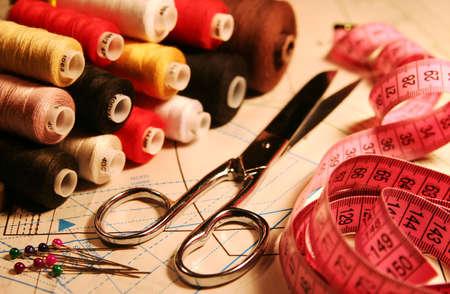 Table of the seamstress 版權商用圖片