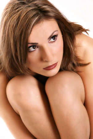 woman and naked knees photo