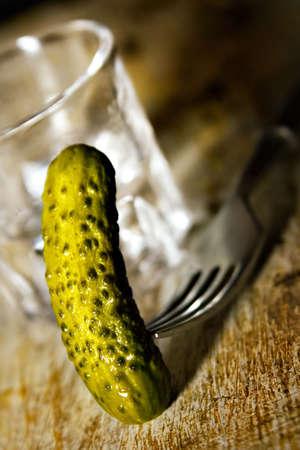 vodka with cucunber Standard-Bild