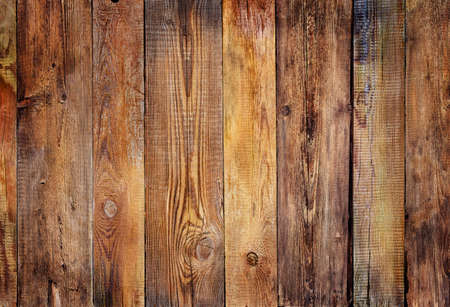 wood texture plank grain background, wooden desk table or floor, old striped timber board Stock Photo