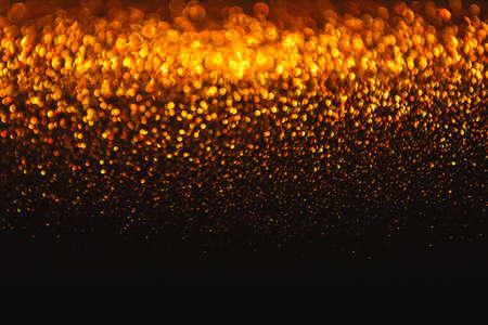 Lights achtergrond, Abstracte Gouden Blur Licht van de vakantie, Kerstmis Golden gloeiende bokeh Dots