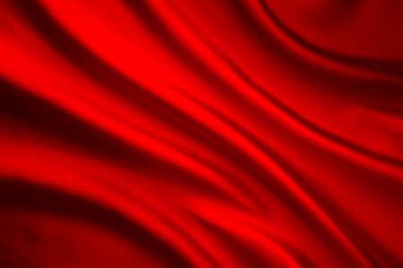 Antecedentes tela de seda de la onda, abstracta Textura roja del paño de raso Foto de archivo - 61444028