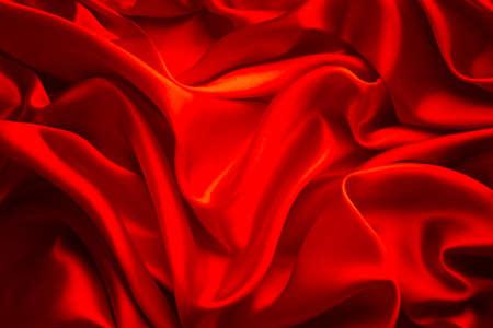 Etoffe de soie fond, Waves Red Satin tissu, Texture Résumé
