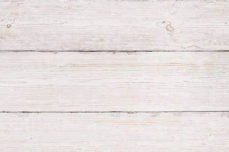 Wood Background, White Wooden Grain Texture, Old Striped Planks Table