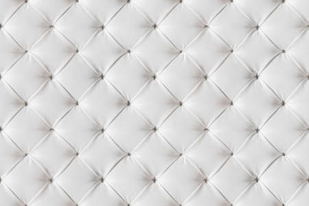 Leather Sofa Texture Seamless Background, White Leathers Upholstery Pattern Banque d'images