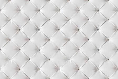 Leren Bank textuur naadloze achtergrond, witte Leathers bekleding patroon