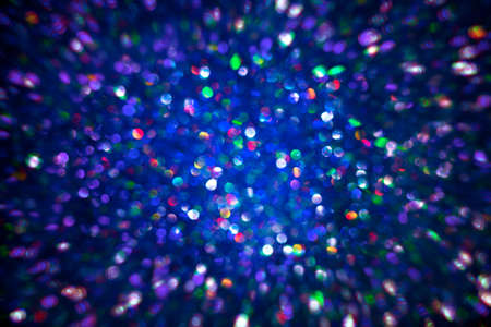 Sparkles Light Background, De Focused Sparkling Blue Color Dust Bokeh Stockfoto