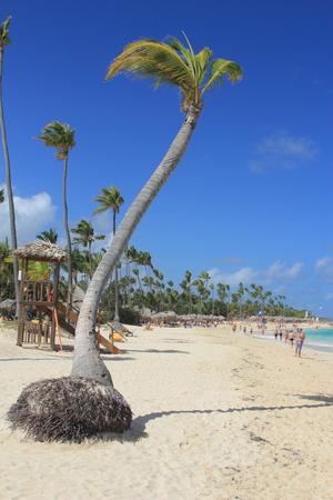 cana: Dominican Republic, Punta Cana, Bavaro Beach. Stock Photo
