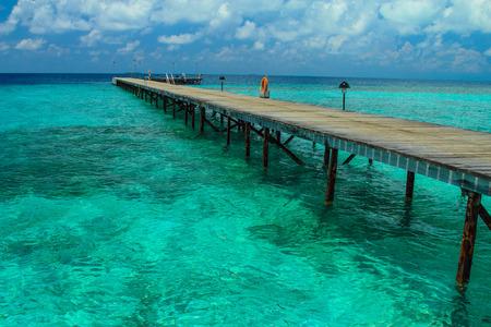 island: Island fun island in maldives Stock Photo