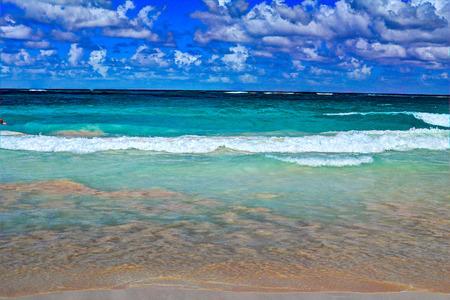 cana: Bavaro Beach, Punta Cana. Stock Photo