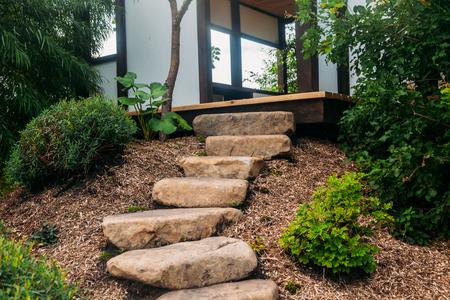 Beautiful Japanese Stone Garden Landscape In Summer Stock Photo   105798028