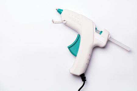 glue-gun on the white background