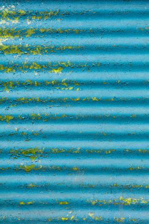 blue corrugated fiberglass. background Stock Photo