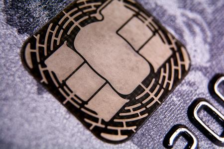 credit card chip Archivio Fotografico