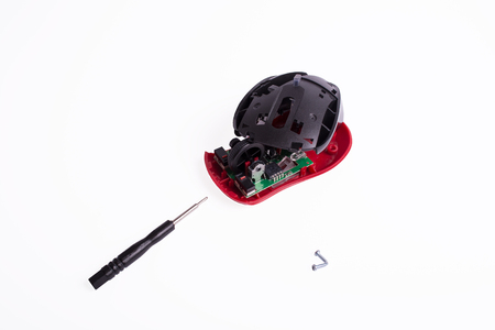 repair wireless computer mouse Stock Photo - 111350975