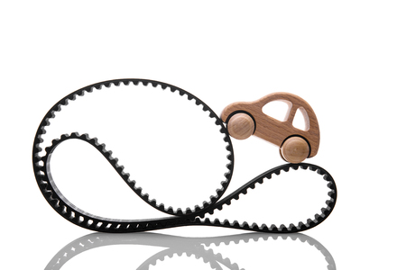 timing belt on a white background Stok Fotoğraf