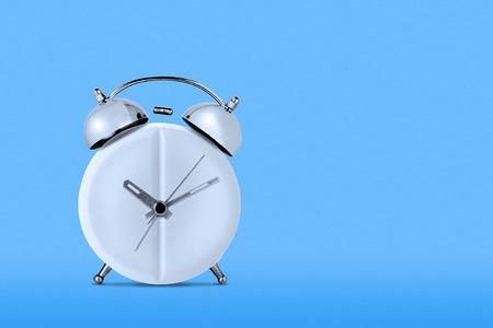 medicine concept.clock-shaped medical tablet on blue background